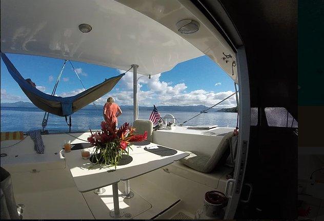 Catamaran boat for rent in Savusavu
