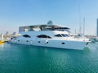 Climb aboard this catamaran for a great experience