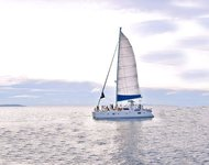 Take this awesome catamaran for a spin!