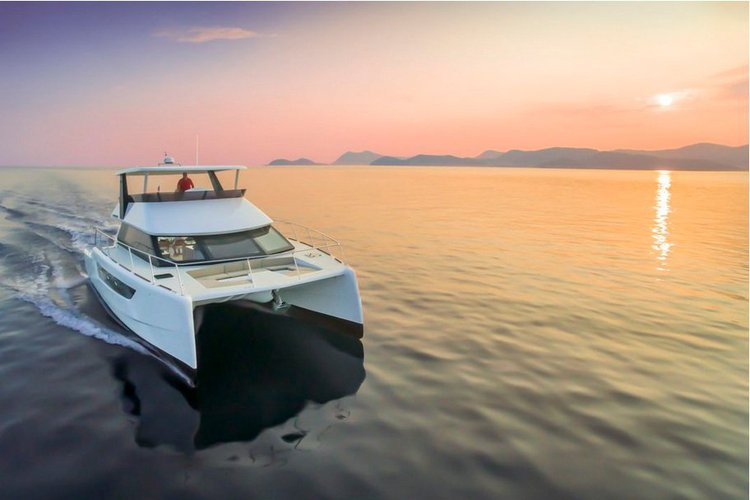 Up to 35 persons can enjoy a ride on this Catamaran boat