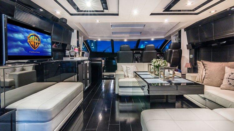 Mega yacht boat rental in Miami RIver, FL