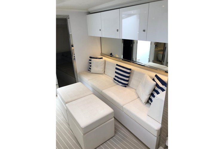 Up to 12 persons can enjoy a ride on this Express cruiser boat