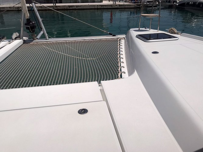 Catamaran boat rental in Marina Kaštela, Croatia