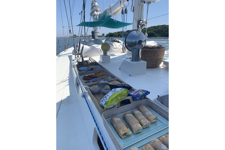 Up to 41 persons can enjoy a ride on this Schooner boat