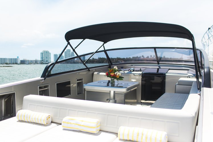 Discover Key Biscayne surroundings on this 40 VanDutch boat