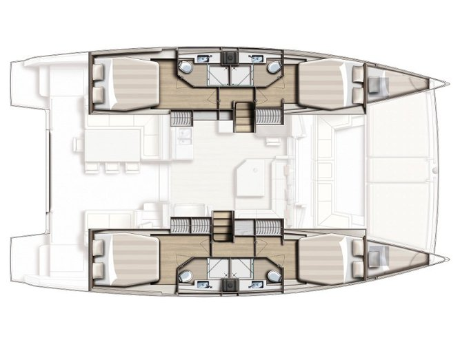 Catamaran boat for rent in Lavrion