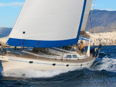 Discover Alimos surroundings on this 61 Custom boat