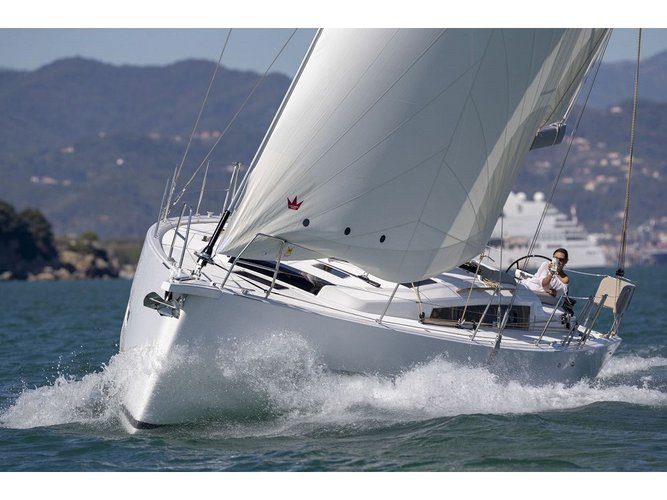 Jump aboard this beautiful Dufour Yachts Dufour 430 Grand Large