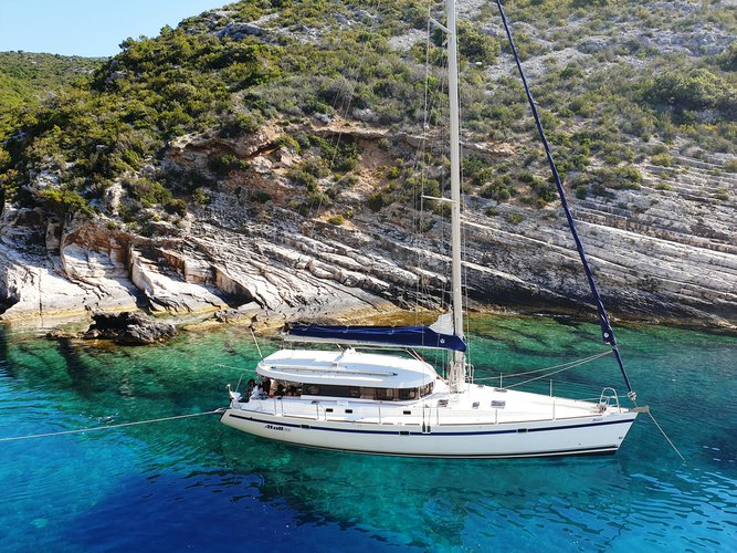 Experience Rogoznica on board this elegant sailboat