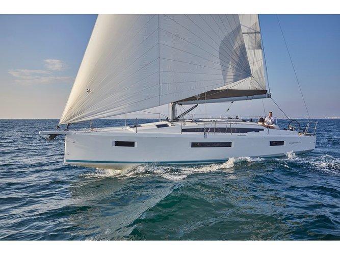 Enjoy luxury and comfort on this Jeanneau Sun Odyssey 410 in Kaštel Gomilica