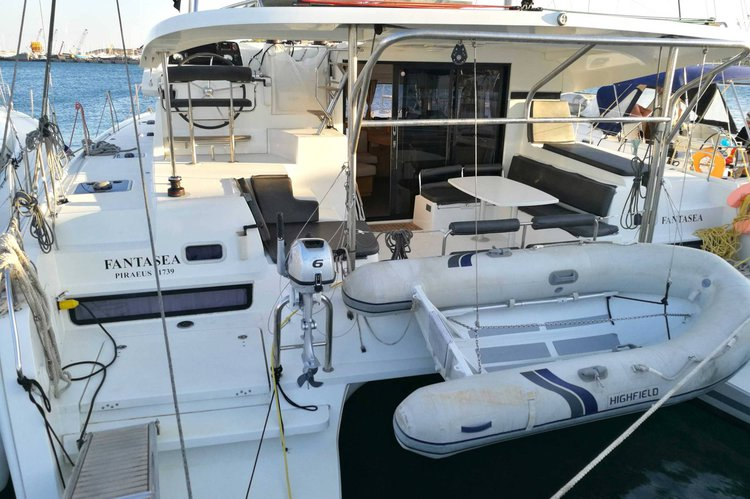 Catamaran boat rental in Lavrio, Greece