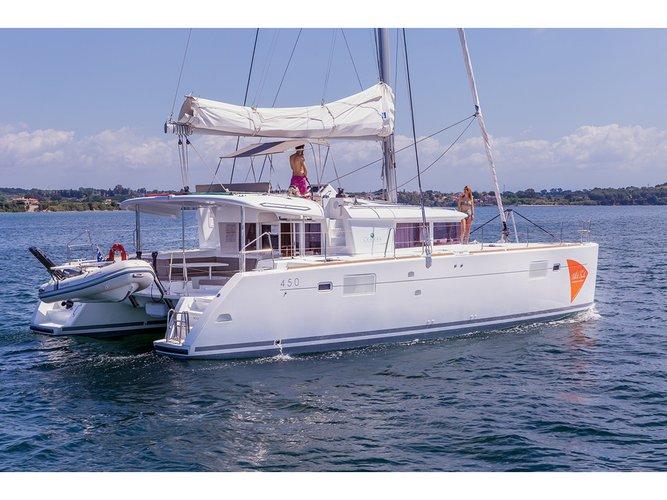Enjoy luxury and comfort on this Lagoon Lagoon 450 in Porto Cheli