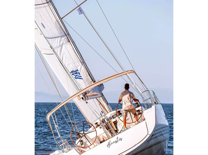 Hop aboard this amazing sailboat rental in Lavrion!
