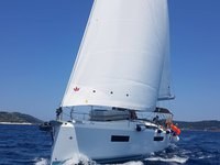 Enjoy luxury and comfort on this Skiathos sailboat charter