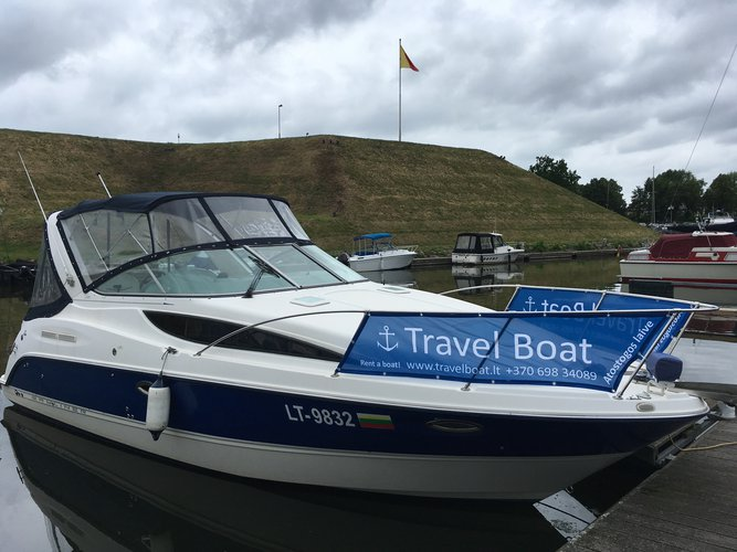 This motor boat charter is perfect to enjoy Klaipeda