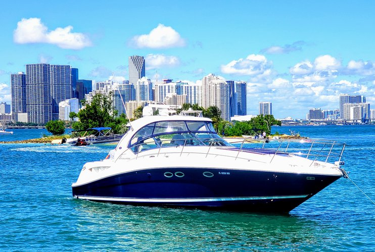 This 41.0' SeaRay cand take up to 12 passengers around Miami