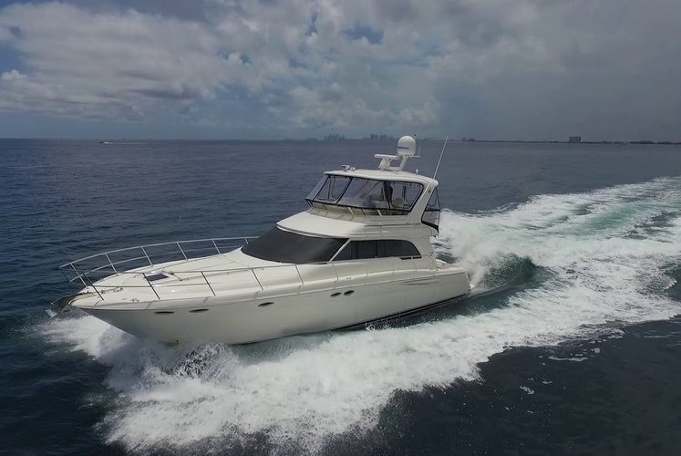 This 51.0' Sea Ray cand take up to 12 passengers around Jupiter