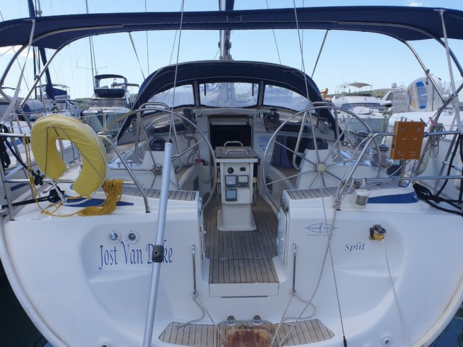 Experience Seget Donji on board this elegant sailboat