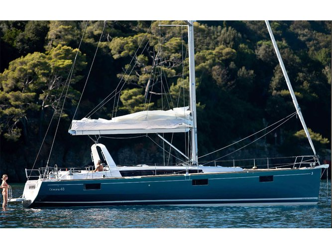Get on the water and enjoy Athens in style on our Beneteau Oceanis 48