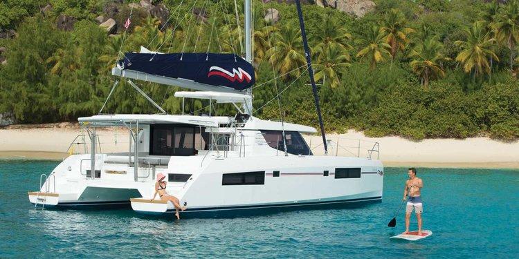 Experience luxury and comfort onboard this beautiful 45' cruising catamaran