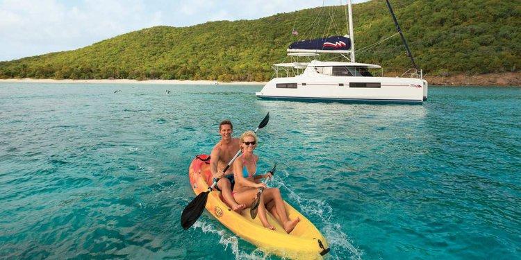 Catamaran boat rental in Exumas, Bahamas
