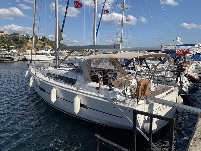 Enjoy Fethiye, TR to the fullest on our comfortable Dufour Yachts Dufour 412 Grand large