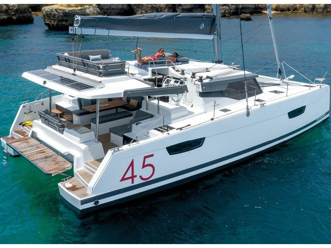 Rent this Fountaine Pajot Elba 45 for a true nautical adventure