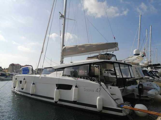 Take this Fountaine Pajot Saona 47 for a spin!