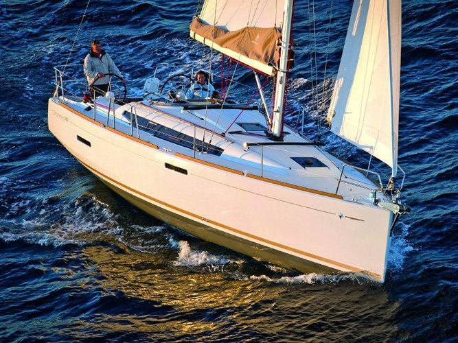 Experience Portocolom on board this elegant sailboat