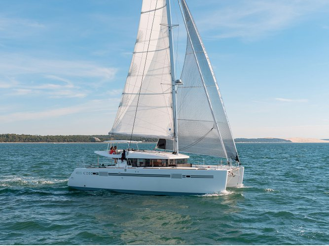 Enjoy Portocolom, ES to the fullest on our comfortable Lagoon Lagoon 450 Sport