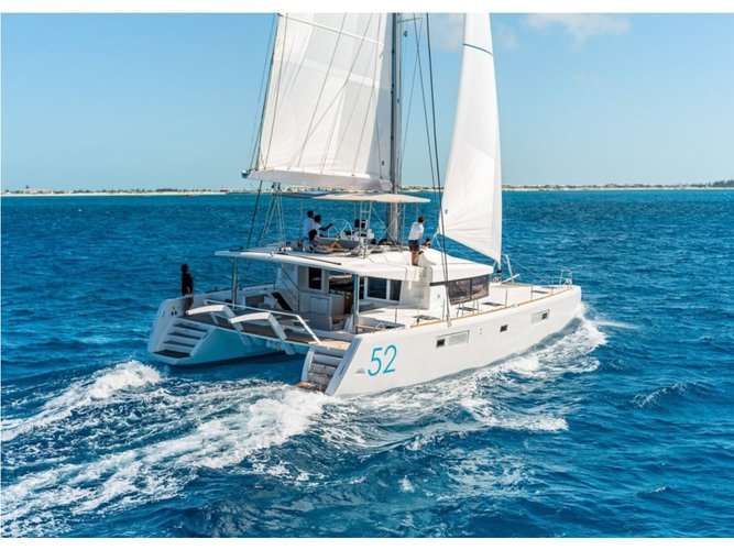 Climb aboard this Lagoon Lagoon 52 for an unforgettable experience