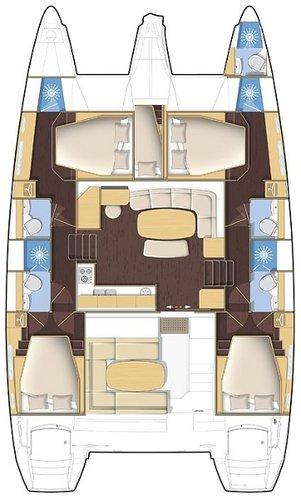 Discover Split region surroundings on this Lagoon 421 Lagoon-Bénéteau boat