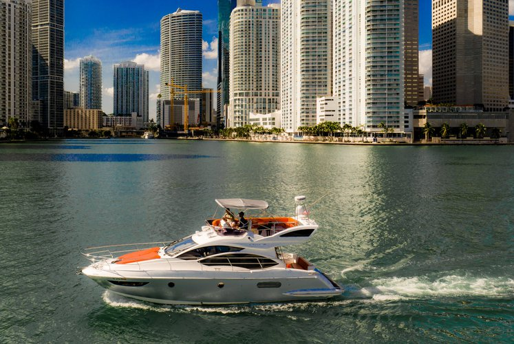 Flybridge boat rental in Pelican Harbor Marina, FL