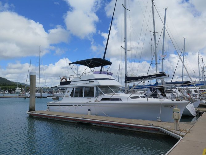Enjoy the winds of  Whitsundays aboard this classic motorboat