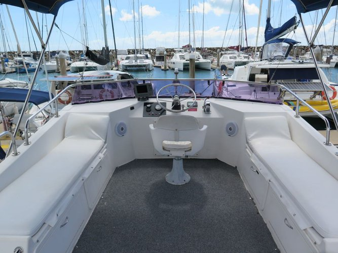 Discover  surroundings on this 36 Fairway boat