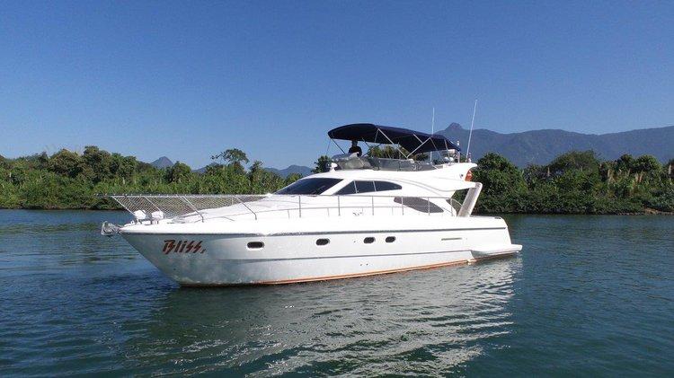 Spend some quality time in Brazil aboard Ferretti 46