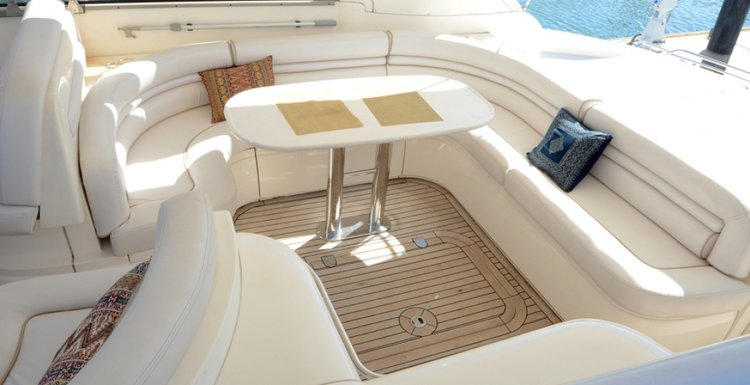 Discover North Miami Beach surroundings on this Princess Viking 54' SPORT Princess yachts boat