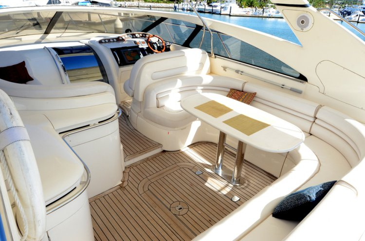 This 54.0' Princess yachts cand take up to 12 passengers around North Miami Beach