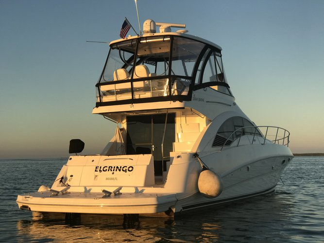Discover Miami surroundings on this Sedan SeaRay boat