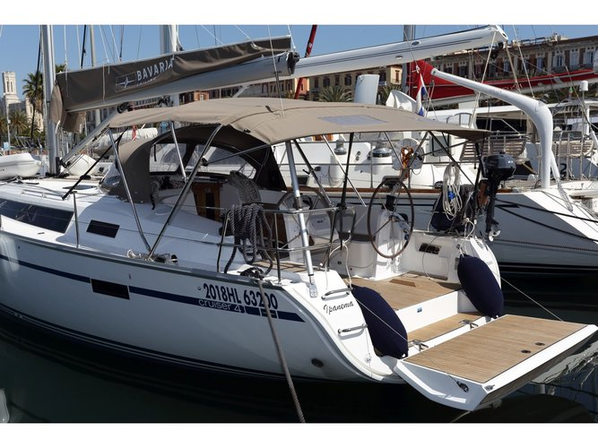 Sail the beautiful waters of Golfo Aranci on this cozy Bavaria Yachtbau Bavaria Cruiser 41