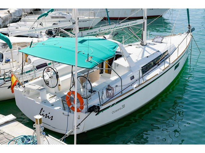 Experience Sitges, Barcelona, ES on board this amazing Beneteau Oceanis 38