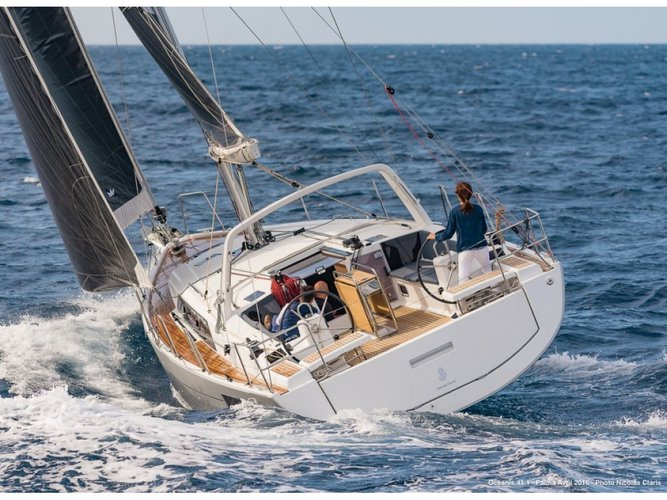 Enjoy luxury and comfort on this Lefkada sailboat charter