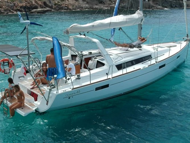 Get on the water and enjoy Olbia in style on our Beneteau Oceanis 45