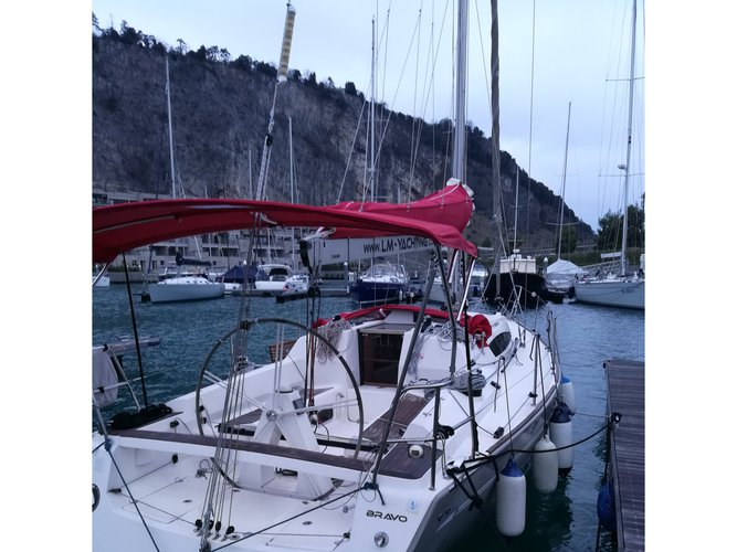 Hop aboard this amazing sailboat rental in Izola!