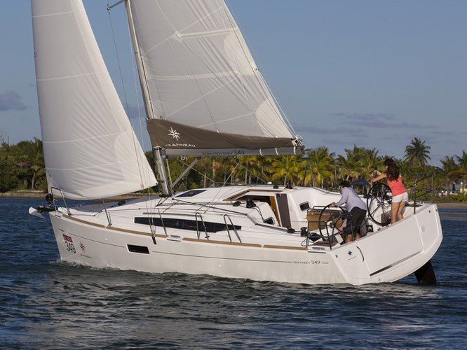 Climb aboard this Jeanneau Sun Odyssey 349 for an unforgettable experience
