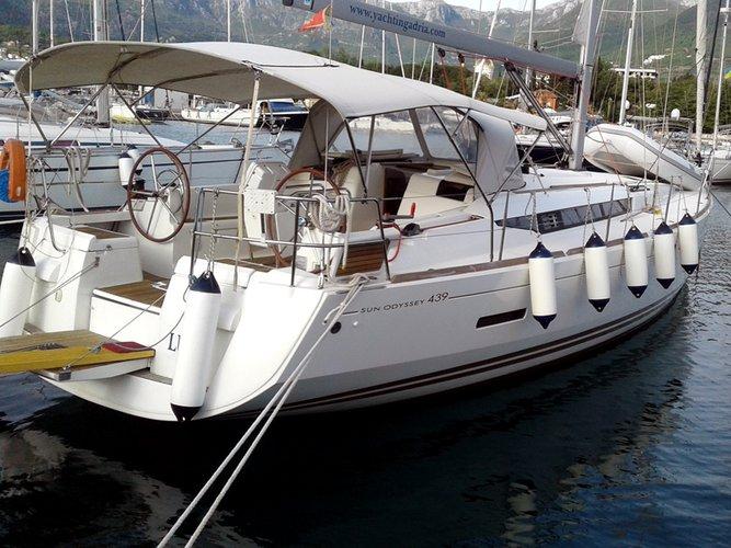 Charter this amazing Jeanneau Sun Odyssey 439 in Herceg Novi, ME