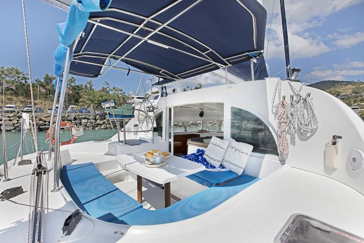 Boating is fun with a Lagoon in Whitsundays