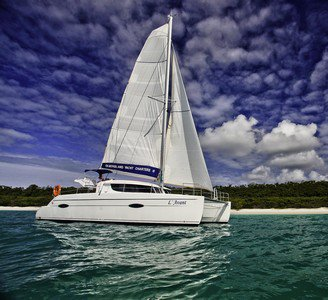 This catamaran rental is perfect to enjoy  Whitsundays