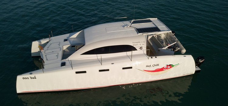 Discover Chalong surroundings on this Stealth 38 Power Cat Asia Catamarans boat