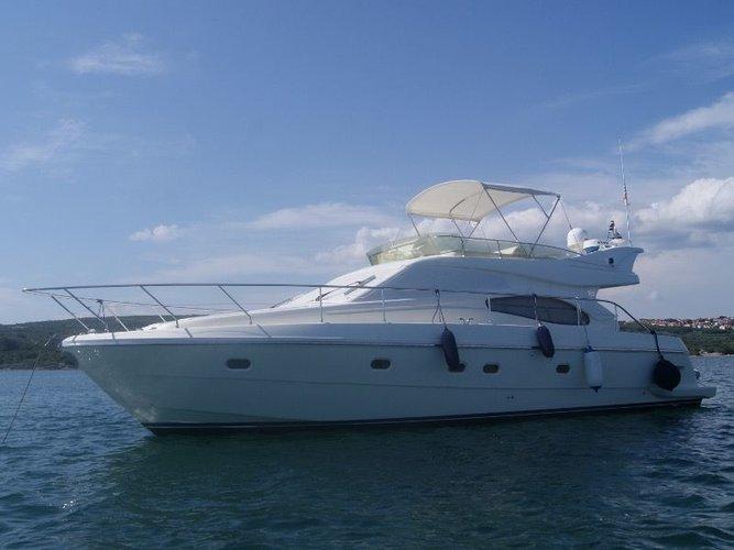 Charter this amazing Ferreti Yachts Ferretti 460 in Seget Donji, HR
